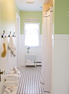 Are You Ready to Decorate with Apple Green? Cottage style bathroom