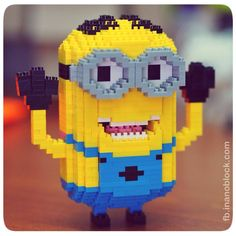 "nanoblock Minion Dave says ""Boo!"" ... http://fb.inanoblock.com for more"