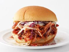 Get Slow-Cooker Pulled Pork Sandwiches Recipe from Food Network