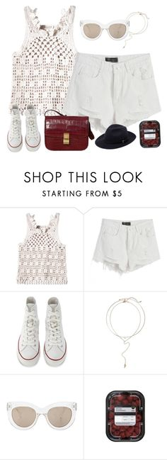 """Summery vibes"" by styledincontrast ❤ liked on Polyvore featuring Rebecca Taylor, Chicnova Fashion, Converse, BP., CÉLINE, Quay and Mulberry"