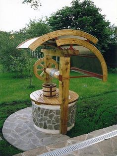Well casitas: An ingenious idea, easy to recreate and quite safe for the little ones Outdoor Projects, Garden Projects, Wood Projects, Outdoor Decor, Garden Sink, Garden Art, Home And Garden, Ponds Backyard, Backyard Landscaping
