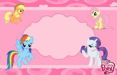 My Little Pony Free Printable Kit. - Oh My Fiesta! for Geeks My Little Pony Party, Fiesta Little Pony, Cumple My Little Pony, My Lil Pony, My Little Pony Invitations, Hello Kitty Invitations, Minnie Mouse Birthday Invitations, Printable Birthday Invitations, Invitations Online
