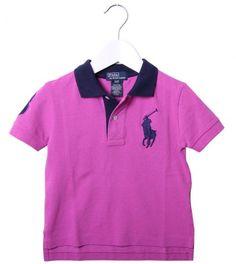 Ralph Lauren Pink/Navy Collar Polo Shirt