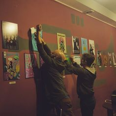 Gettin ready for exhibition opening today at 19.00 in Pub Cześć