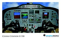 "Universal Avionics: Cessna Citation II 550 - (1) Display Suite: 3 EFI-890R 8.9"" Flat Panel Displays; (2) Situational Awareness: 1 Vision-1 Synthetic Vision System, 1 Terrain Awareness and Warning System (TAWS), 1 Application Server Unit (ASU) for Jeppesen charts, checklists, weather and E-DOCS"