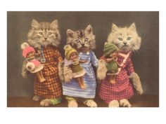Three Little Kittens...and their dolls :)