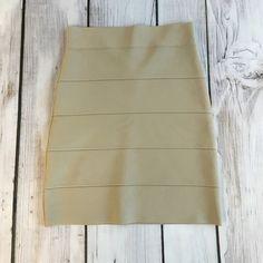 BCBGMaxzAria Beige Bandage Skirt Staple BCBGMAXZARIA bandage skirt, in great condition BCBGMaxAzria Skirts