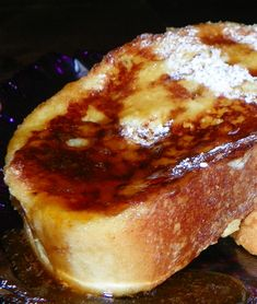 Haitian French Toast INGREDIENTS 1 day old French baguette 1 cup orange juice cup heavy cream 2 eggs 1 teaspoon cinnamon cup white sugar 1 dash. Brunch Recipes, Breakfast Recipes, Atkins Breakfast, Breakfast Healthy, Homemade Breakfast, Breakfast Club, Party Recipes, Breakfast Ideas, Dessert Recipes