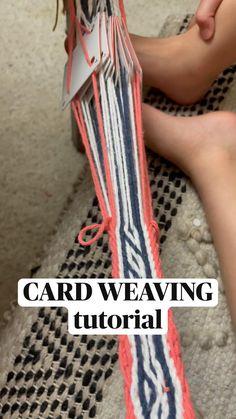 Card Weaving, Inkle Weaving, Weaving Art, Basket Weaving, Macrame Patterns, Weaving Patterns, Crochet Patterns, Navajo Weaving, String Crafts