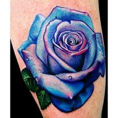Blue rose tattoo Tattooed - Polyvore