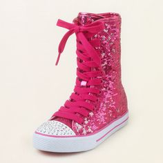 girl - sequin hodgepodge hi-top | Children's Clothing | Kids Clothes | The Children's Place