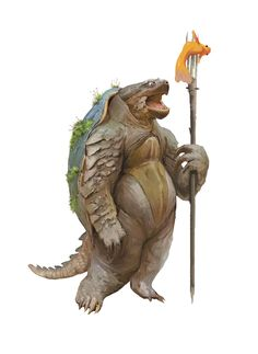 Middle-age Mutant average Turtle by Tomasz Zarucki Dungeons And Dragons Characters, Dnd Characters, Fantasy Characters, Fantasy Races, Fantasy Rpg, Character Concept, Character Art, Dnd Races, 3d Figures