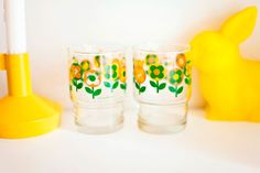 commonkitchen: short glasses with flower print #5