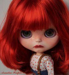 Tristana. OOAK benutzerdefinierte Blythe. Kunst-Puppe