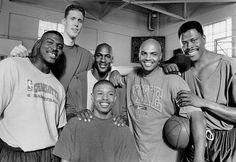 Great Photo: Jordan w/ Larry Johnson, Mugsy Bogues, Shawn Bradley, Charles Barkley & Patrick Ewing