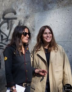 Milan Fashion Week FW 2014 Street Style: Capucine Safyurtlu & Claire Dhelens