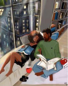Nicholle Kobi — Your love is all I need Black Couple Art, Black Love Art, Black Girl Art, Black Couples, My Black Is Beautiful, Art Girl, Black Art Painting, Black Artwork, Reading Art