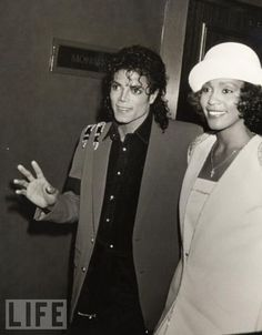 Michael Jackson & Whitney Houston. Legends. Both gone too soon. Heaven couldn't wait. *Wall slides*