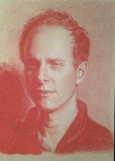 """Saatchi Art Artist Renée Caouette; Drawing, """"Portrait of Dustin"""" #art"""