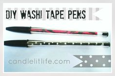DIY Washi Tape Pens by Candlelit Life from U-CreateCrafts.com #washi #tape #diy