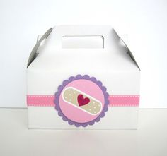 Set of 5 Gable Boxes for Doc McStuffins Party by justalittlefavor