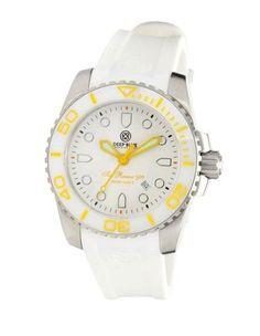 Deep Blue Lady Blue Sea Ramic 500 White Dial White Silicone Ladies Watch 4SRLBW