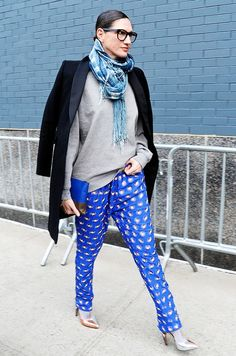 Jenna Lyons proves that pajamas CAN be worn on the streets. Stylishly, too.
