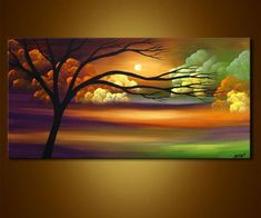 Modern landscape painting by the artist Osnat Tzadok. Choose from thousands of modern, contemporary and abstract paintings in this online art gallery. Artwork: 'Waiting for Tonight', dimensions: Canvas Painting Landscape, Landscape Art, Painting Canvas, Oil Painting Flowers, Painting & Drawing, Painting Videos, Diy Canvas Art, Beautiful Paintings, Modern Paintings