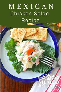 Traditional Chicken Salad - Ensalada de Pollo is a classic childhood favorite. A long-time favorite among Mexicans for family reunions, children�s parties, picnics, and even beach days. #chickensalad #mexicanfood. Mexican Potluck, Real Mexican Food, Potluck Dinner, Mexican Food Recipes, Ethnic Recipes, Mexican Chicken Salads, Chicken Salad Recipes, Family Reunions, Mexicans