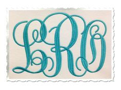 $2.95Large Fancy Curly Monogram Machine Embroidery Font