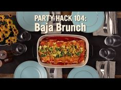 Party Hack 104 - The Baja Brunch Party Hacks, Vegetarian Lunch, Breakfast Burritos, Brunch, Ethnic Recipes, Sweet, Food, Smothered Burritos, Meal