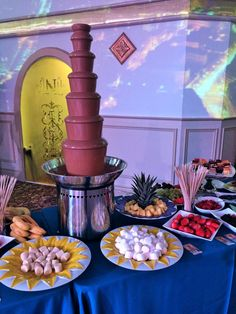 Sweet Table. Chocolate Fountain. Bat Mitzvah Chocolate Fountains, Melting Chocolate, Special Occasion, How To Memorize Things, Table Decorations, Bat Mitzvah, Sweet, Melt Chocolate, Dinner Table Decorations