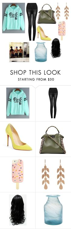 """Untitled #207"" by emilybancroft26 on Polyvore featuring Mephisto, Christian Louboutin, Fendi, Tory Burch, Irene Neuwirth and Brooks Brothers"