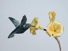Hummingbird & Trumpet Vine | Robert J. Lang Origami