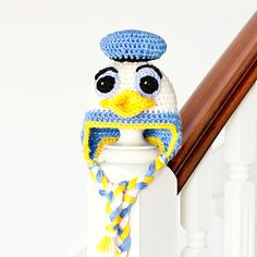 Donald Duck Inspired Crochet Baby Hat. Free Pattern.