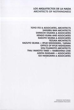 Los arquitectos de la nada = Architects of nothingness [Catálogo de exposición] / [editado por = published by, Ignacio Ontiveros, Joan Ramón Pascuets].-- Madrid : Ignacio Ontiveros, Joan Ramón Pascuets, 2014.