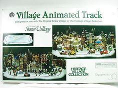 Dept 56 Heritage Village Animated Track Holiday Christmas Figurine Display Snow 3