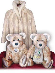 Heirloom Fur Teddy Bear - Persian Lamb... I think i need to still my moms fur