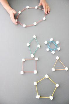 delia creates: Pin Test: Marshmallow and Toothpick Shapes Babysitting Activities, Educational Activities, Preschool Activities, Math For Kids, Fun Math, Teaching Tools, Teaching Math, Early Math, Kindergarten Fun