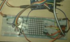 Learn on the fly : Wirelessly send strings to 8*8 led matrix with NRF24L01 Transceiver- scrolling tweets