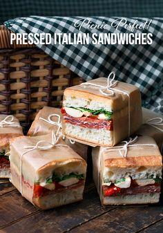 Picnic Perfect! Pressed Italian Sandwiches