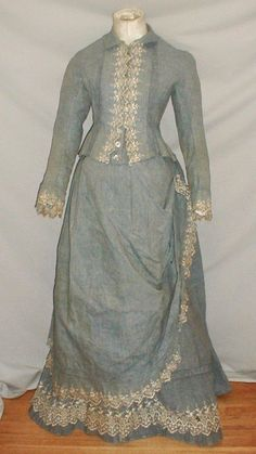 1870's Bustle Era Dress