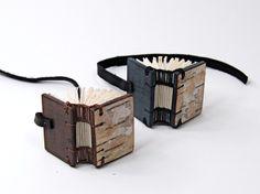 mini birch journal - small handmade wood book - woodland rustic. $50.00, via Etsy.