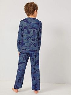 Boys Geo Print Top & Pants PJ Set – Agodeal Pajama Set, Pajama Pants, Satin Pj Set, Sleepwear & Loungewear, Pj Sets, Spandex Material, Lounge Wear, Geo, Sleeves