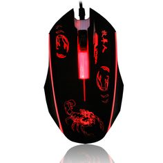 USB Wired Mouse 2400DPI 3 Buttons Optical  Gaming  Mouse 7 Colors LED Luminous for PC Laptop Computer