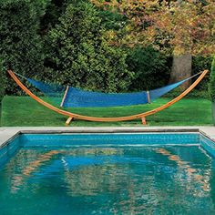 Hatteras Hammocks Deluxe DuraCord Rope Hammock  Coastal Blue *** Check this awesome product by going to the link at the image. (Amazon affiliate link)
