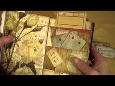 YouTube...Vintage journal. Nice journal in a vintage nature theme.