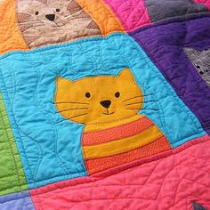 Cats Quilt Pattern Workshop digital pattern PDF by ShinyHappyWorld