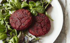 Alkaline diet beetroot and quinoa burgers - Alkaline recipes Natasha Corrett and Vicki Edgson