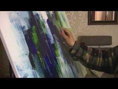 Acrylmalerei,Tutorial, SPEED, Collage und Spachteln. Painting Acrylic - YouTube